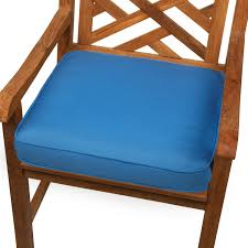 Sunbrella Patio Furniture Covers - furniture wooden chair with blue cushion seat by sunbrella
