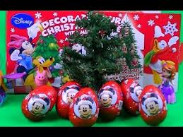 6 surprise eggs clubhouse mickey mouse christmas tree decoration