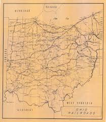 Bryan Ohio Map by Ohio Railroad 1967