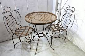 Oval Wrought Iron Patio Table by Wrought Iron Bumblebee Table Metal Patio Furniture