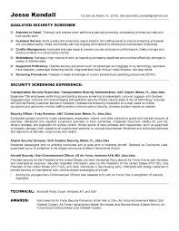 Security Officer Job Description For Resume by Security Screener Resume