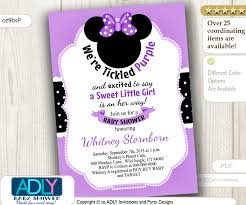 minnie mouse baby shower invitations minnie mouse invitation with big purple bow digital baby shower