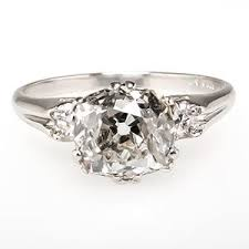 mine cut engagement ring antique mine cut engagement ring stylecaster