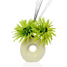 Lime Green Flowers - lime green phoenix silk artificial flower arrangement in vase with