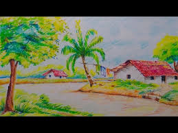 pictures beautiful and easy drawings of scenery drawings art