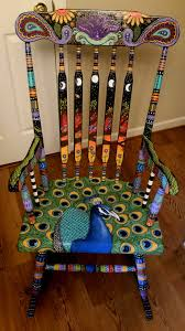 Silk Peacock Home Decor Diy Chair U0026 Furniture Art Look At What A Little Paint And Fabric