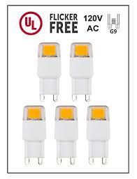 white light bulbs not yellow cbconcept ul listed g9 led light bulb 5 pack epistar cob 1 7 watt