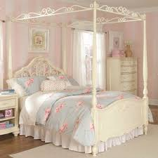 bedroom bedroom white stained wooden canopy bed with white