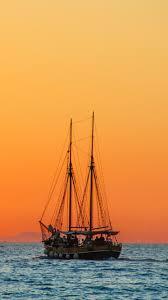 download wallpaper 750x1334 sea sailboat horizon iphone 6 hd