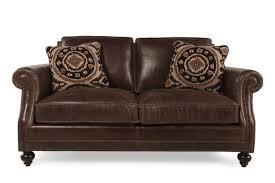 bernhardt brae leather loveseat mathis brothers furniture