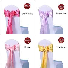 Chair Sashes Satin Chair Sashes Chair Sash Bow Of Wedding Satin Ribbon Cloth