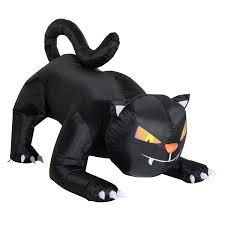 halloween lights uk homcom halloween inflatable black cat decoration 1 2m w led