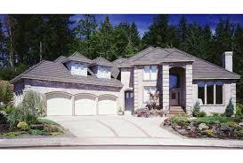 eplans mediterranean house plan three car garage 3448 square