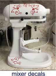 classic kitchen with kitchenaid mixer vinyl decals swirl flower