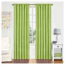 kendall blackout thermaback curtain panel lime green 42 x84