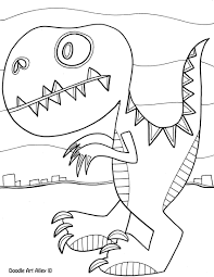 dinosaur coloring pages doodle art alley