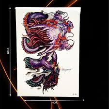 large dragon tattoo sleeve men women body chest art waterproof