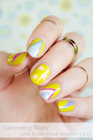 geometric nails with kester black summer 2014 15