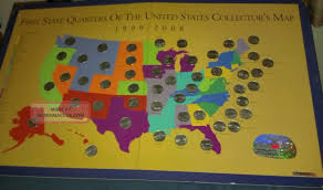First State Quarters Of The United States Collectors Map by First State Quarters If The United States Collectors Map 1999 2008