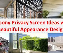 best apartment balcony privacy screen ideas interior design