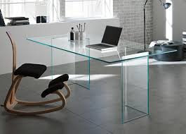 Modern Glass Top Desk Contemporary Office Desk Glass Glass Top Contemporary Office