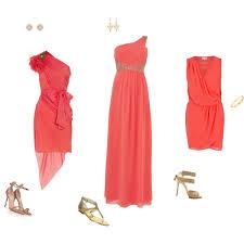 coral and gold bridesmaid dresses coral bridesmaid dresses polyvore