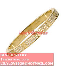 love bracelet gold plated images Fake cartier love bracelet yellow gold plated real paved with jpg