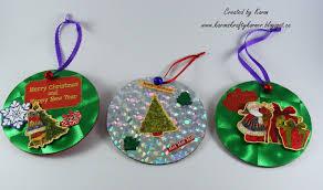 christmas ornaments made with cds karon u0027s krafty korner a good