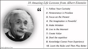 10 Amazing Life Lessons from Albert Einstein 1 Follow Your