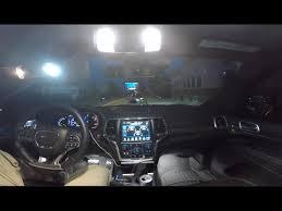 Grand Cherokee Srt Interior Jeep Grand Cherokee Srt Interior Led Light Swap Youtube