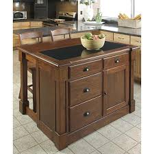 kitchen island granite top aspen kitchen island with granite top and 2 bar stools 6770179 hsn