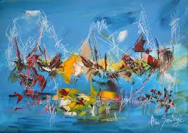 Tableau Abstrait Rouge Et Gris by Tableau Abstrait Bleu Paysage Abstrait Peinture Abstraite Bleu