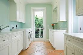 White Cabinets With Blue Walls Laundry Room With Storage System And Blue Walls Feng Shui In The