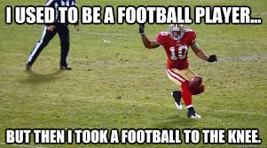 Football Player Meme - i used to be a football player but then i took a football to