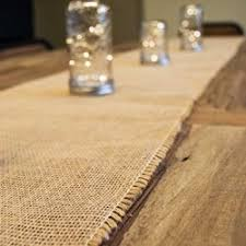 burlap table runner with fringed edge 12 5 x 96