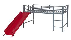 Metal Loft Bed With Desk Assembly Instructions Dhp Furniture Junior Loft With Slide