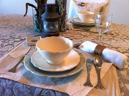 Nautical Themed Dinnerware Sets - everything coastal thanksgiving tablescape ideas for the coast