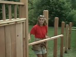 How To Build Backyard Fence How To Build A Wood Fence On Slope Youtube