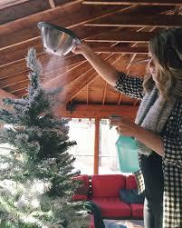 Downswept Slim Christmas Tree by How To Flock Your Own Christmas Tree Christmas Tree Tutorials
