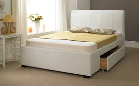 faux leather drawer bed frame mattress online