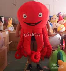 red octopus mascot octopus costumes halloween mascot fancy dress