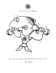 new custom coloring pages u2013 biff u0027s fitness yukon mustang gym