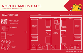 room layout north campus residence halls layout ferris state university
