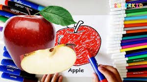 apple coloring pages for preschoolers free learning colors for