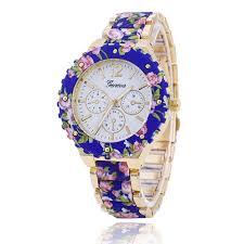 bracelet watches ebay images New fashion floral flower geneva watch beauty bracelet women jpg