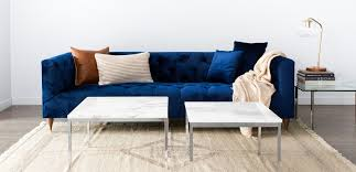 Blue Velvet Chesterfield Sofa by Ms Chesterfield Interior Define