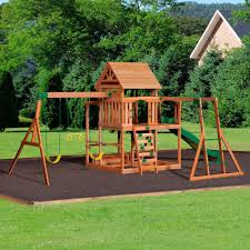 backyard discovery monticello cedar wooden swing set home