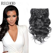 clip on extensions aliexpress buy weft clip in wavy human hair