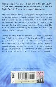 ed sheeran biography pdf ed sheeran divide and conquer amazon co uk david nolan