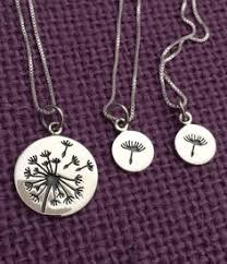 and me necklace dandelion necklaces and me necklaces